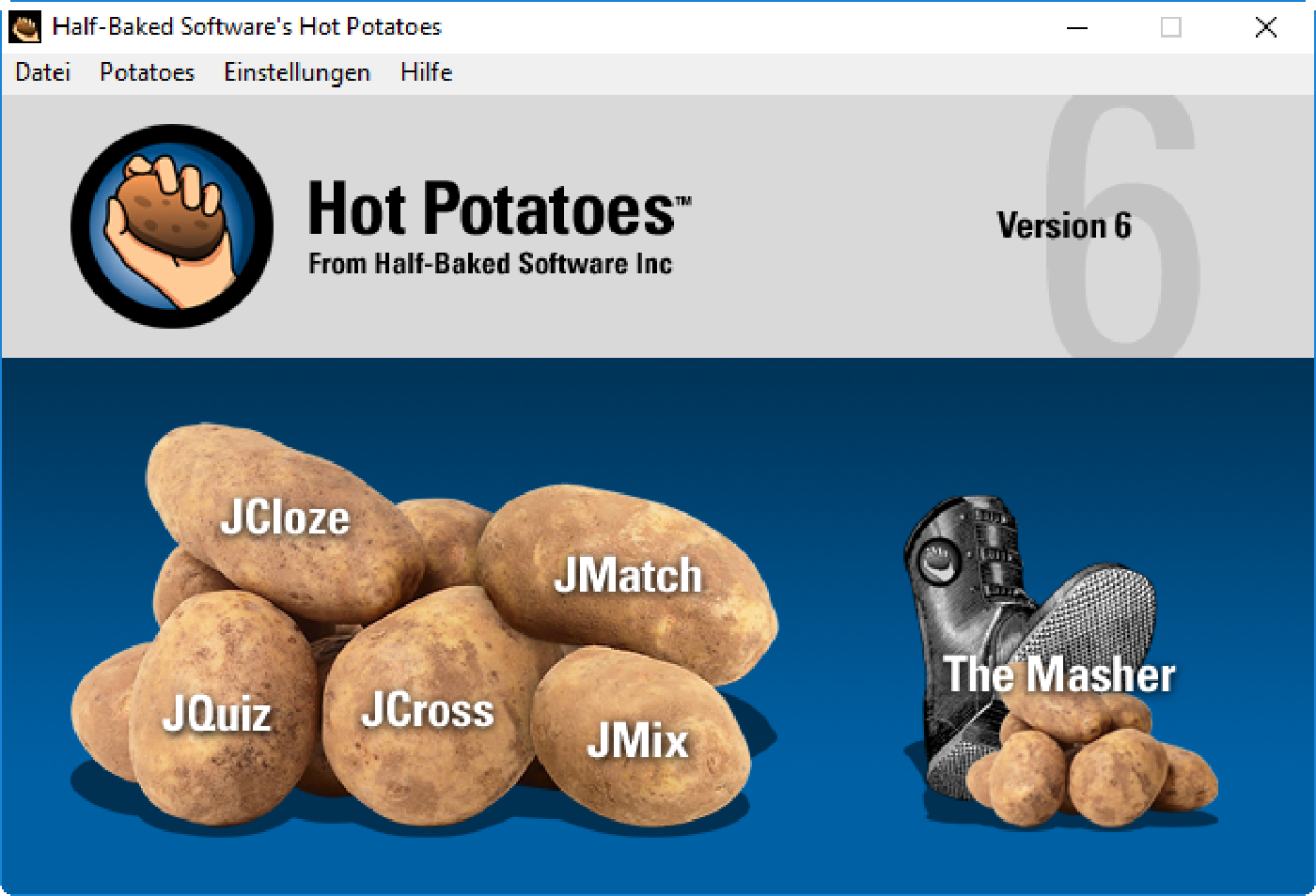 Hot Potatoes Startmenu